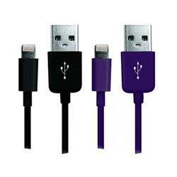 LASER-LIGHTNING-CABLES-TWIN-PACK-PURPLE-AND-BLACK