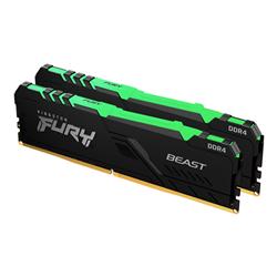 32GB 2666MHZ DDR4 CL16 DIMM (KIT OF 2) 1GX8 FURY BEAST RGB