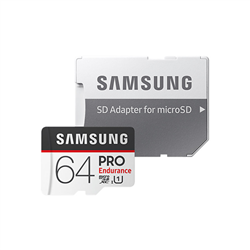 MICRO SDXC 64GB PRO ENDURANCE /W ADAPTER- UHS-1 SDR104- CLASS 10- UP TO 100MB/S READ- 30MB/S WRITE- 3 YEARS WARRANTY