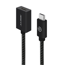 ALOGIC 0.5M USB 3.1 (GEN 2) USB-C TO USB-C EXTENSION CABLE - MALE TO FEMALE - BLACK - PRIME SERIES