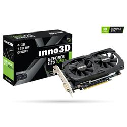 INNO3D GEFORCE GTX 1050 TI TWIN X2 (1290MHZ / 7GBPS) / 4GB GDDR5 / 128-BIT / DP+HDMI+DVI