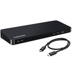 TOSHIBA THUNDERBOLT 3 DOCKING STATION- USB-C(2)- HDMI(2)- GBE- DVI- DP- MDP- VGA- 3YR