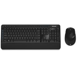 MICROSOFT WIRELESS DESKTOP 3050 SERIES USB MOUSE & KEYBOARD - RETAIL BOX (BLACK)