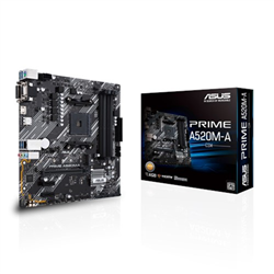 AMD A520 (RYZEN AM4) MICRO ATX MOTHERBOARD WITH M.2 SUPPORT- 1 GB ETHERNET- HDMI/DVI/D-SUB- SATA 6 GBPS- USB 3.2 GEN 1 TYPE-A