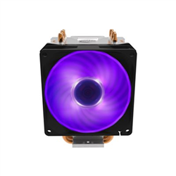 COOLER MASTER HYPER H410R RGB- 4 HEAT PIPES DESIGN- DIRECT CONTACT TECHNOLOGY- 92MM PWM RG