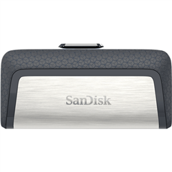 SANDISK ULTRA DUAL DRIVE USB TYPE C- SDDDC2 32GB- USB TYPE C- BLK- USB3.1/TYPE C REVERSIBLE- RETRACTABLE- TYPE-C ENABLED ANDROID- 5Y