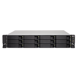 QNAP TS-1232PXU-RP-4G- 12 BAY NAS (NO DISK)-CORTEX-57- 4GB- 2.5GBE(2)-10GBE SFP+(2)-2U-3YR