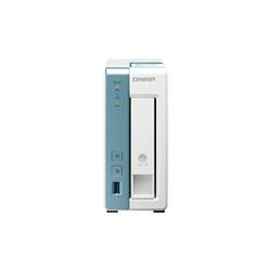 QNAP 1-BAY (NO DISK)- ALPINE QC 1.7GHZ- 1GB- GBE(1)- USB(3)- TWR- 2YR WTY