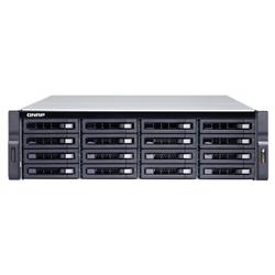 QNAP 16-BAY NAS (NO DISK)- XEON QC 3.3GHZ- 16GB- 10GBE SFP+(2)- GBE(4)- 3U- 3YR WTY