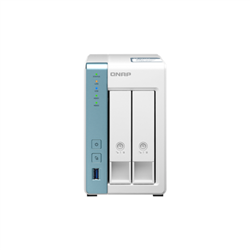 QNAP TS-231P3-1G NAS- 2BAY (NO DISK)- AL-314 QUAD CORE- 2GB- 2.5GBE- GBE-USB(3)- TWR- 2YR