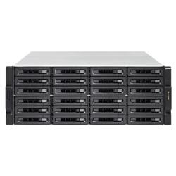 QNAP 24-BAY NAS (NO DISK)- XEON 6-CORE 3.3GHZ- 16GB- 10GBE SFP+(2)- GBE(4)- 4U- 3YR WTY