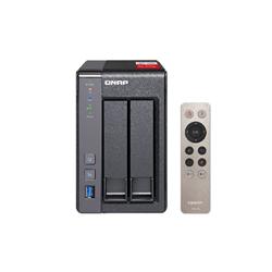 QNAP TS-251+-2G- NAS- 2BAY (NO DISK)- CEL QC-2.0GHZ- 2GB- USB- GBE(2)- TWR- 2YR