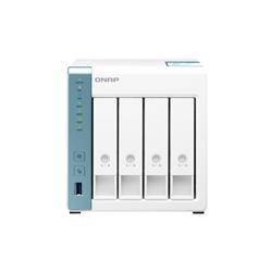 QNAP 4-BAY NAS (NO DISK) ALPINE QC 1.7GHZ- 1GB- GBE(2)- USB(3)- TWR- 2YR WTY