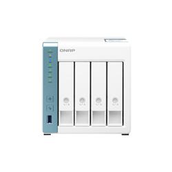 QNAP 4-BAY NAS (NO DISK)- ALPINE QC 1.7GHZ- 4GB- 2.5GBE- GBE- USB(3)- TWR- 2YR WTY