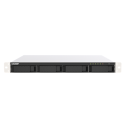 QNAP 4-BAY NAS (NO DISK) CELERON 2.0GHZ- 4GB- 2.5GBE(2)- PCIE(1)- RPSU- 1RU- 3YR WTY