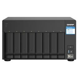 QNAP 8-BAY NAS (NO  DISK) ALPINE QC 1.7GHZ- 4GB- 2.5GBE(2)- 10GBE SFP+(2)- TWR- 2YR WTY