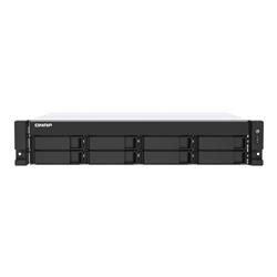 QNAP 8-BAY NAS (NO DISK) CELERON QC 2.0GHZ- 4GB- 2.5GBE(2)- PCIE- RPSU- 2U- 3YR WTY