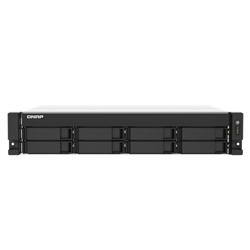 QNAP 8-BAY NAS (NO DISK) AMD QC 2.2GHZ- 4GB- 2.5GBE (2)- PCIE(2)- RPSU- 2U- 3YR WTY