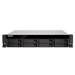 QNAP TS-883XU-RP-E2124- 8 BAY NAS(NO DISK)- XEON E-2124-8GB-10GBE SFP+(2)-GBE(4)-2U-3YR