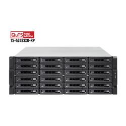 QNAP 24-BAY NAS (NO DISK) XEON 6-CORE 3.4GHZ- 128GB- 10GBE SFP+(2)- GBE(4)- RPSU- 3YR WTY