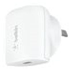 BELKIN 1 PORT WALL CHARGER- 20W USB-C (1) PD- WHITE- 2YR WITH $2500 CEW