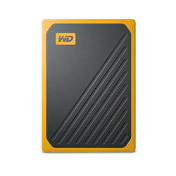WD MY PASSPORT GO PORTABLE SSD 1TB USB 3.0 SPEEDS UP TO 400 MB/S BUILT-IN CABLE AMBER COLORED 3Y