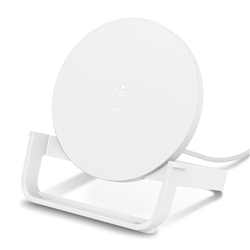 BELKIN QI WIRELESS 10W CHARGING STAND- USB-A TO MUSB CABLE- NO PSU- WHITE- 2YR CEW