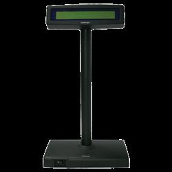 POSIFLEX Pole Display PD300 2x20 LCD /w Stand & PS USB Blk