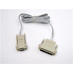 PRINTER CABLE RS232 DB9-F PC TO DB25-M PTR 3/PARTS