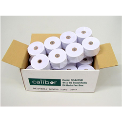 CALIBOR BOND PAPER 44X75 24 ROLLS / BOX