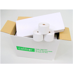 CALIBOR THERMAL PAPER 57X75 50 ROLLS/BOX