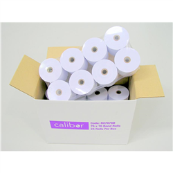 CALIBOR BOND PAPER 76MM X 76MM 24 ROLLS/BOX
