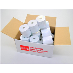 CALIBOR THERMAL PAPER 80MM X 80MM 24 ROLLS/BOX