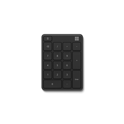 MICROSOFT BLUETOOTH NUMBER PAD - RETAIL BOX (BLACK)