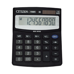 SDC-810NR 10 DIGIT DESKTOP CALCULATOR (BOX)