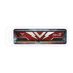 T-FORCE ZEUS SERIES 16GB(1X16GB) DIMM DDR4 3000MHZ 1.35V- RED HEAT SPREADER