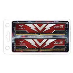 T-FORCE ZEUS SERIES 16GB(2X8GB) DIMM DDR4 3200MHZ 1.20V- RED HEAT SPREADER