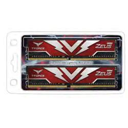 T-FORCE ZEUS SERIES 32GB(2X16GB) DIMM DDR4 2666MHZ 1.20V- RED HEAT SPREADER