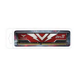 T-FORCE ZEUS SERIES 32GB(1X32GB) DIMM DDR4 3000MHZ 1.35V- RED HEAT SPREADER