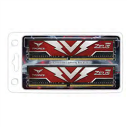 T-FORCE ZEUS SERIES 32GB(2X16GB) DIMM DDR4 3000MHZ 1.35V- RED HEAT SPREADER