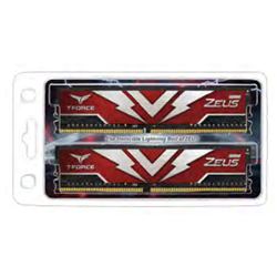 T-FORCE ZEUS SERIES 32GB(2X16GB) DIMM DDR4 3200MHZ 1.20V- RED HEAT SPREADER
