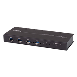 ATEN 4X4 USB 3.1 GEN 1 INDUSTRIAL GRADE HUB SWITCH- UP TO 5GBPS DATA THROUGHPUT- SUPPORTS SERIAL CONTROL RS422/RS485
