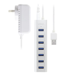 ALOGIC 7 PORT USB HUB - ALUMINIUM UNIBODY WITH POWER ADAPTER - PRIME SERIES