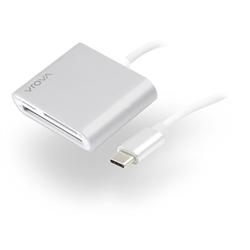 ALOGIC USB-C MULTI CARD READER - MICRO SD- SD & COMPACT FLASH - PRIME SERIES  - MOQ:2