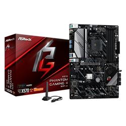 AMD X570; 4 DDR4 DIMM; 2 PCIE 4.0 X16- 2 PCIE 4.0 X1- M.2 WIFI KEY E; 8 SATA3- HYPER M.2 (PCIE GEN4 X4 & SATA3)- HYPER M.2 (PCIE GEN4 X4); 12 USB 3.2