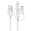 alogic-3-in-1-charge-sync-cable-micro-usb-lightning-ubs-c-30cm-silver-prime-series-(apple-certified-under-mfi)-moq-3-mu23t1-030slv