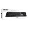 LOGITECH MX KEYS ADVANCED WIRELESS ILLUMINATED KEYBOARD-UNIFYING OR BT-GREY- FOR MAC ONLY